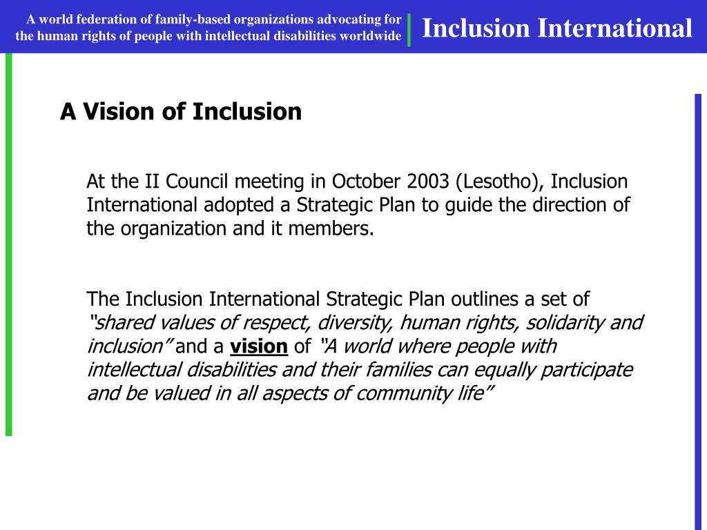 A Vision of Inclusion