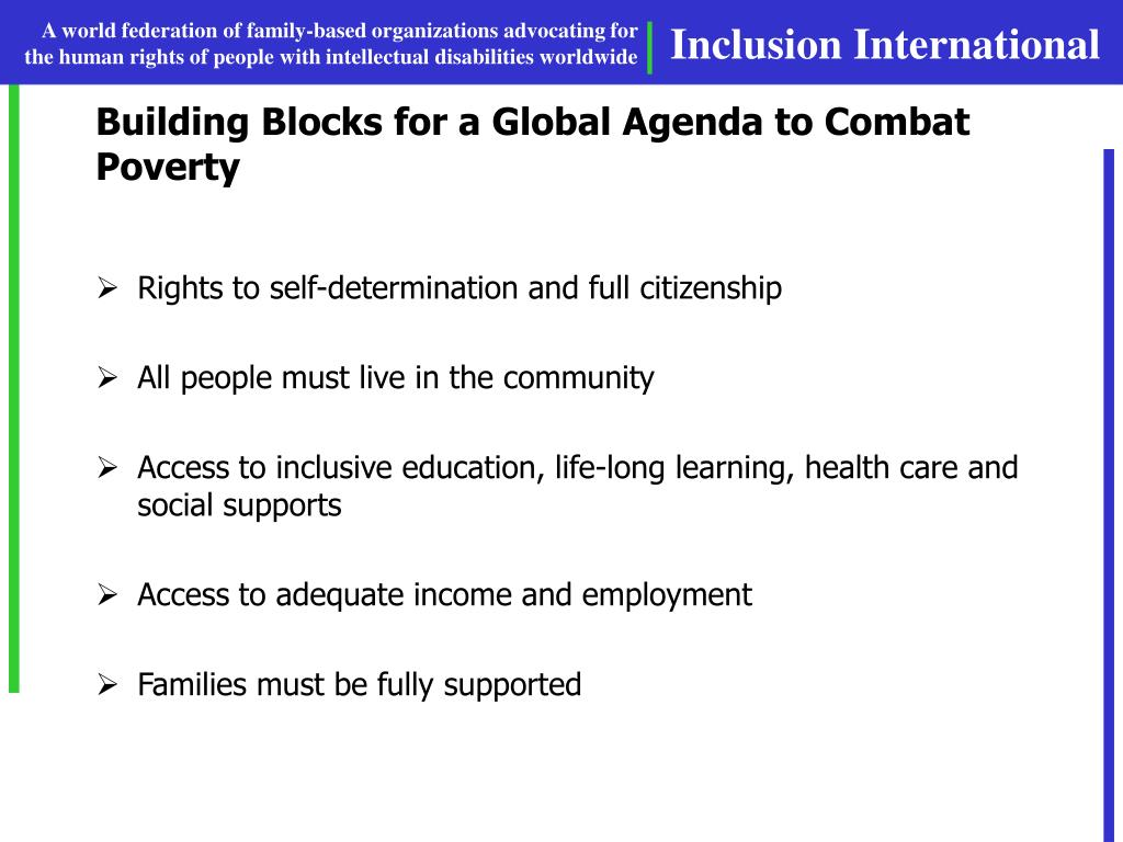 Building Blocks for a Global Agenda to Combat Poverty
