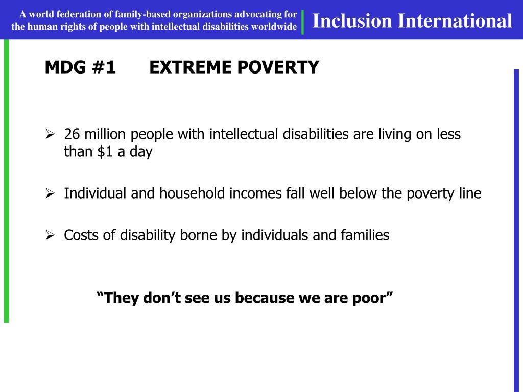 MDG #1EXTREME POVERTY