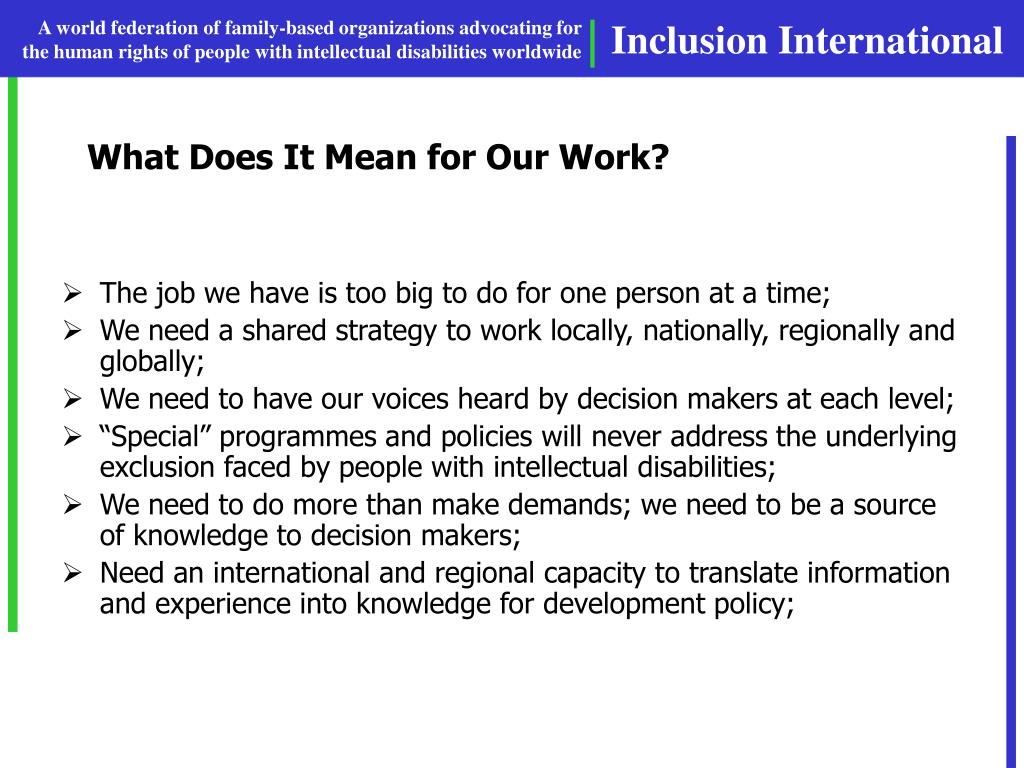What Does It Mean for Our Work?