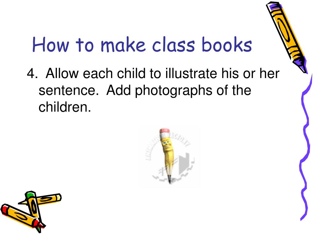How to make class books