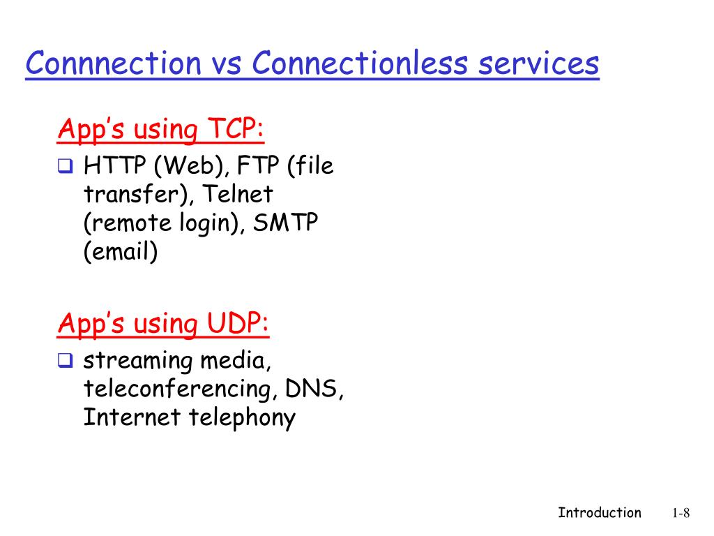 App's using TCP: