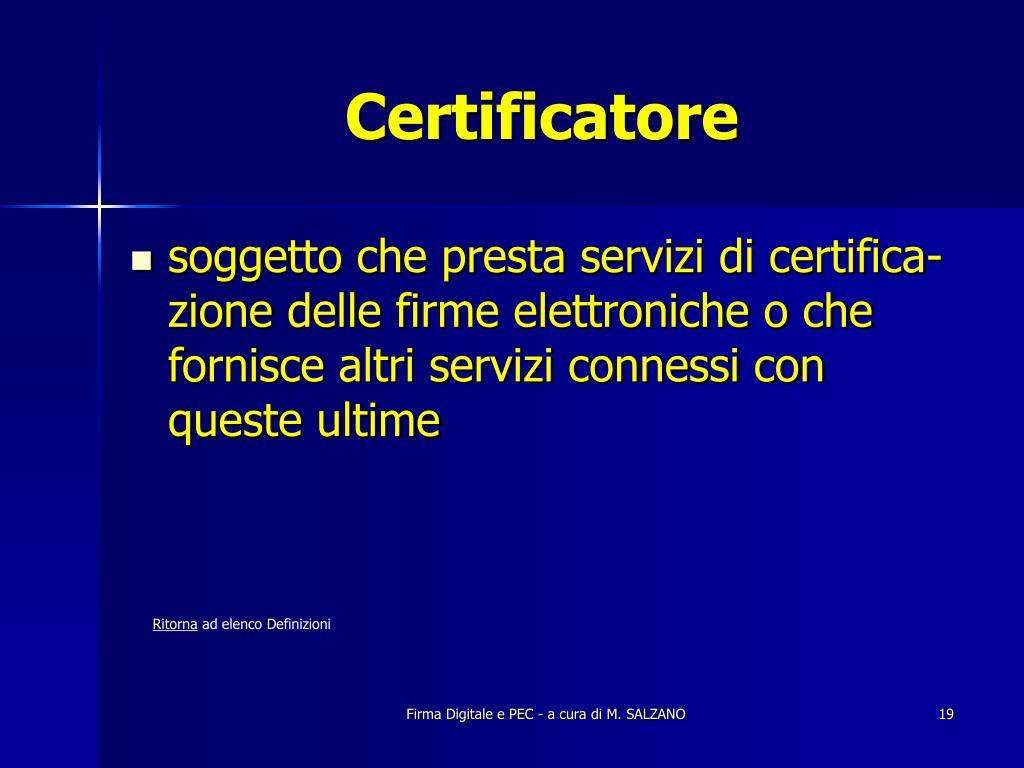 Certificatore