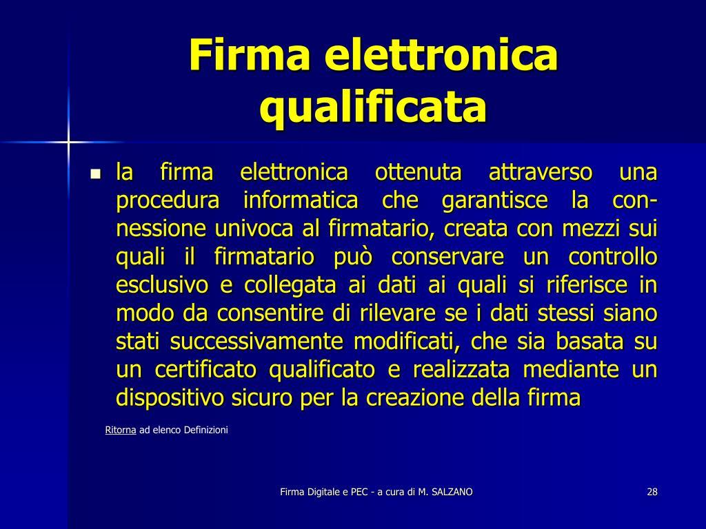 Firma elettronica qualificata