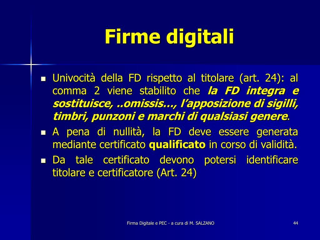 Firme digitali