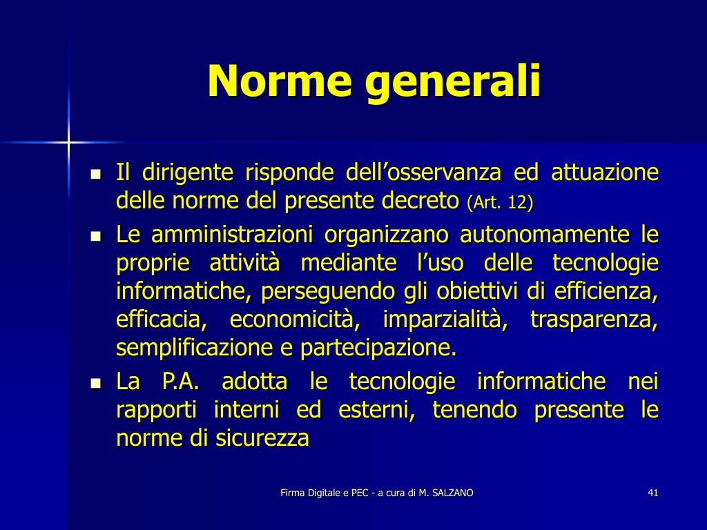 Norme generali