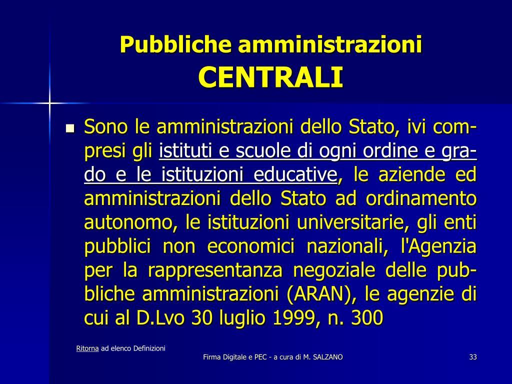 Pubbliche amministrazioni