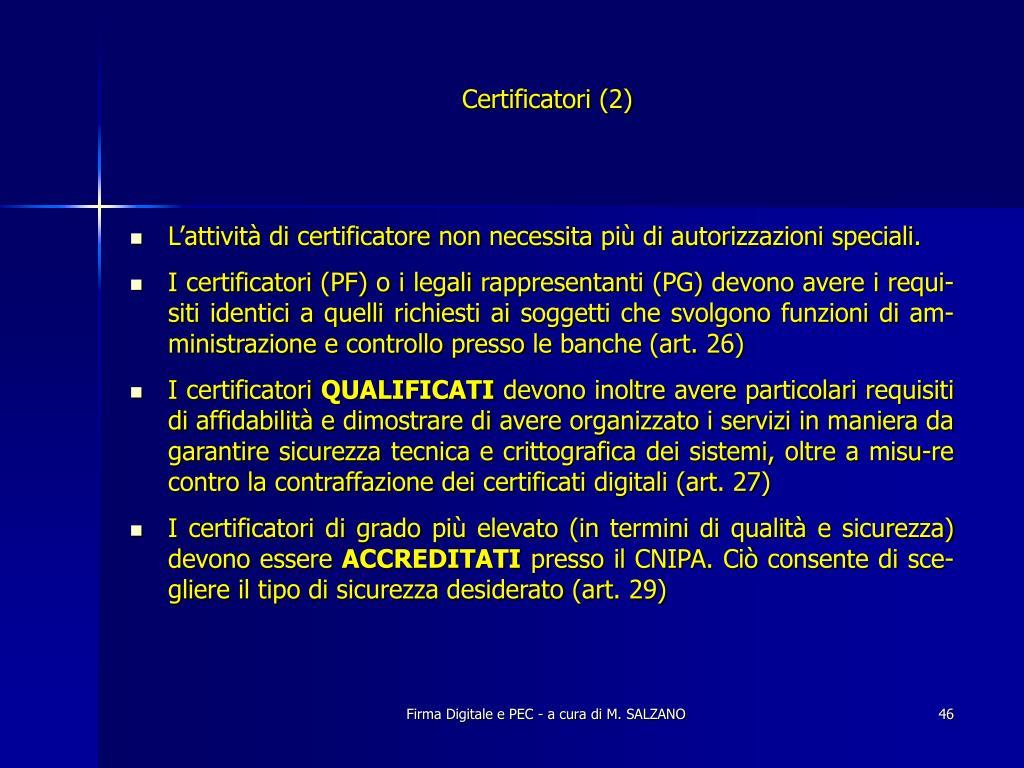 Certificatori (2)