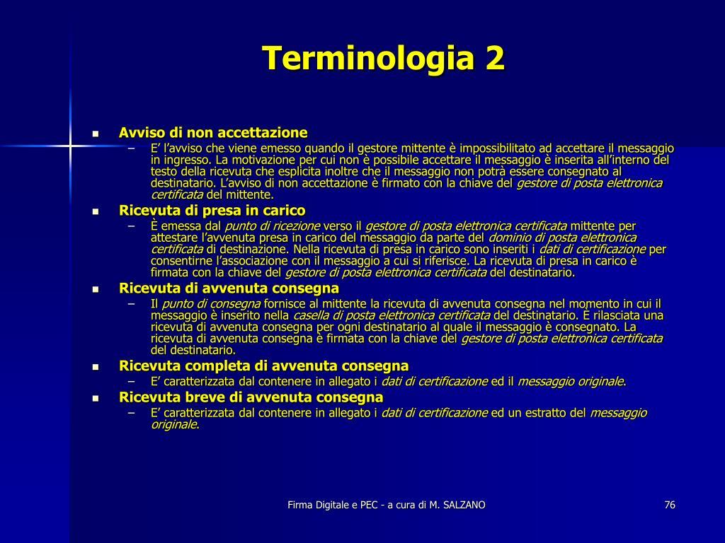 Terminologia 2