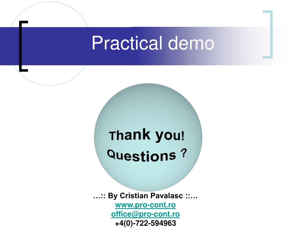 Practical demo