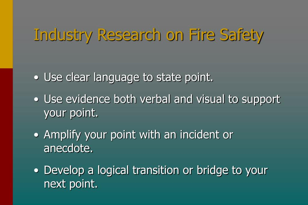Industry Research on Fire Safety