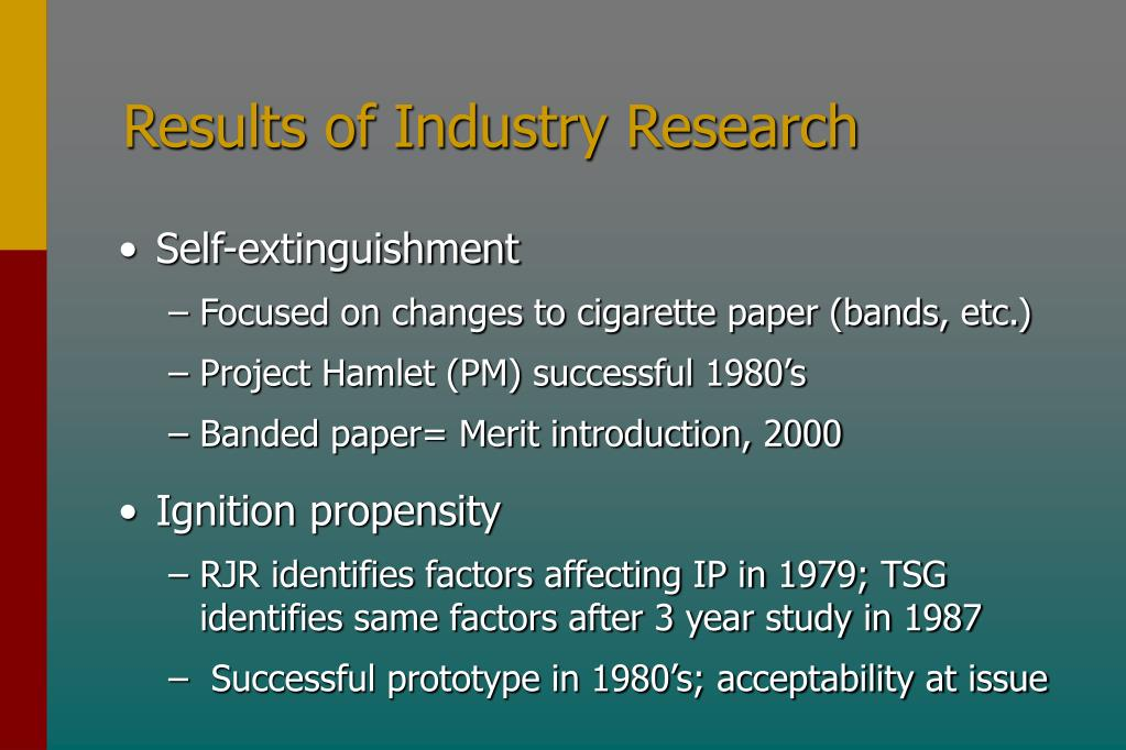 Results of Industry Research