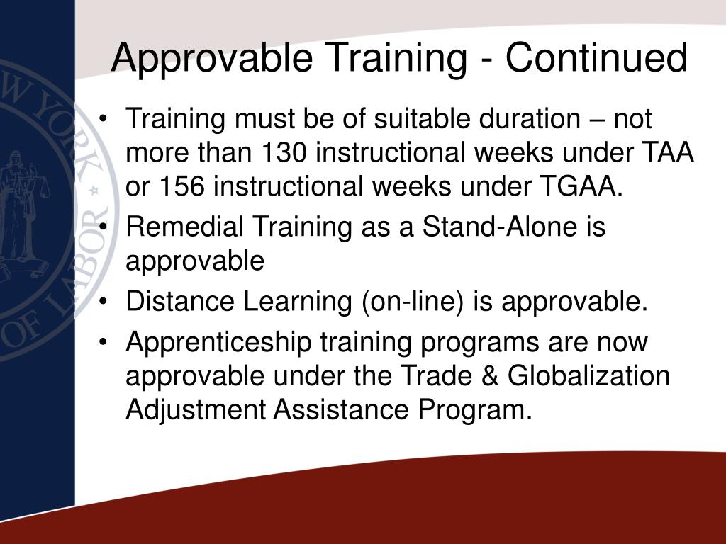 Approvable Training - Continued