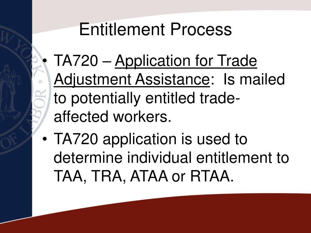 Entitlement Process