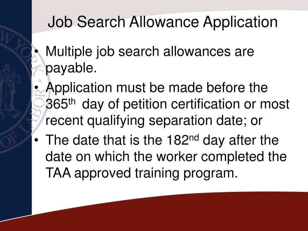 Job Search Allowance Application