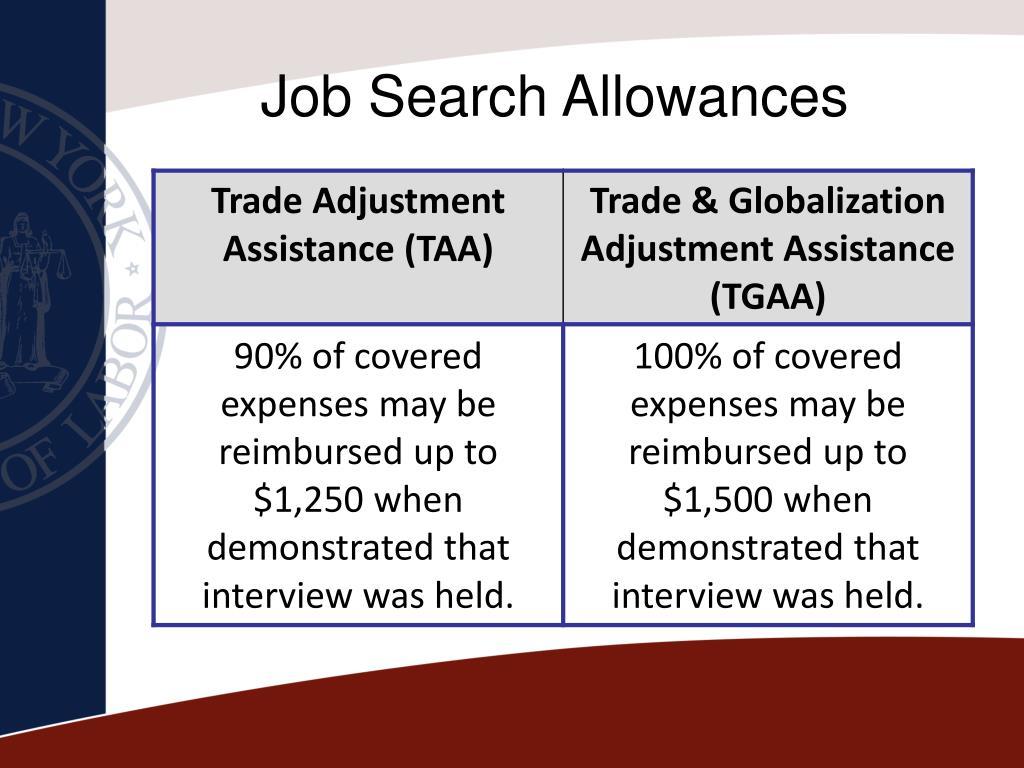 Job Search Allowances