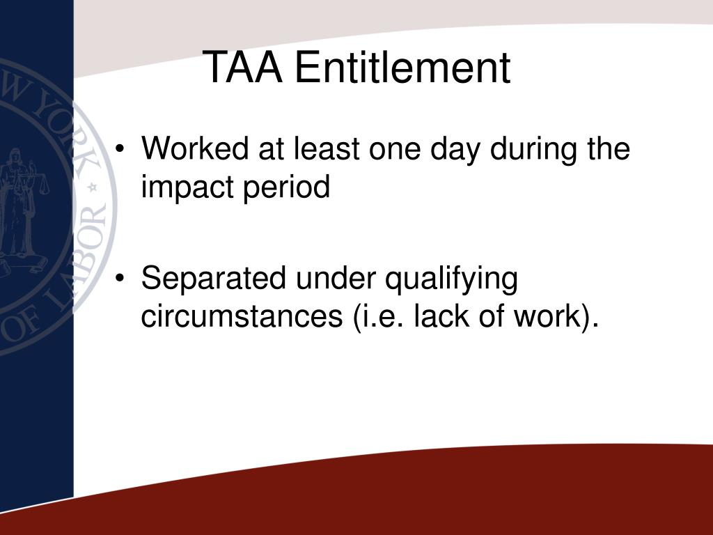 TAA Entitlement