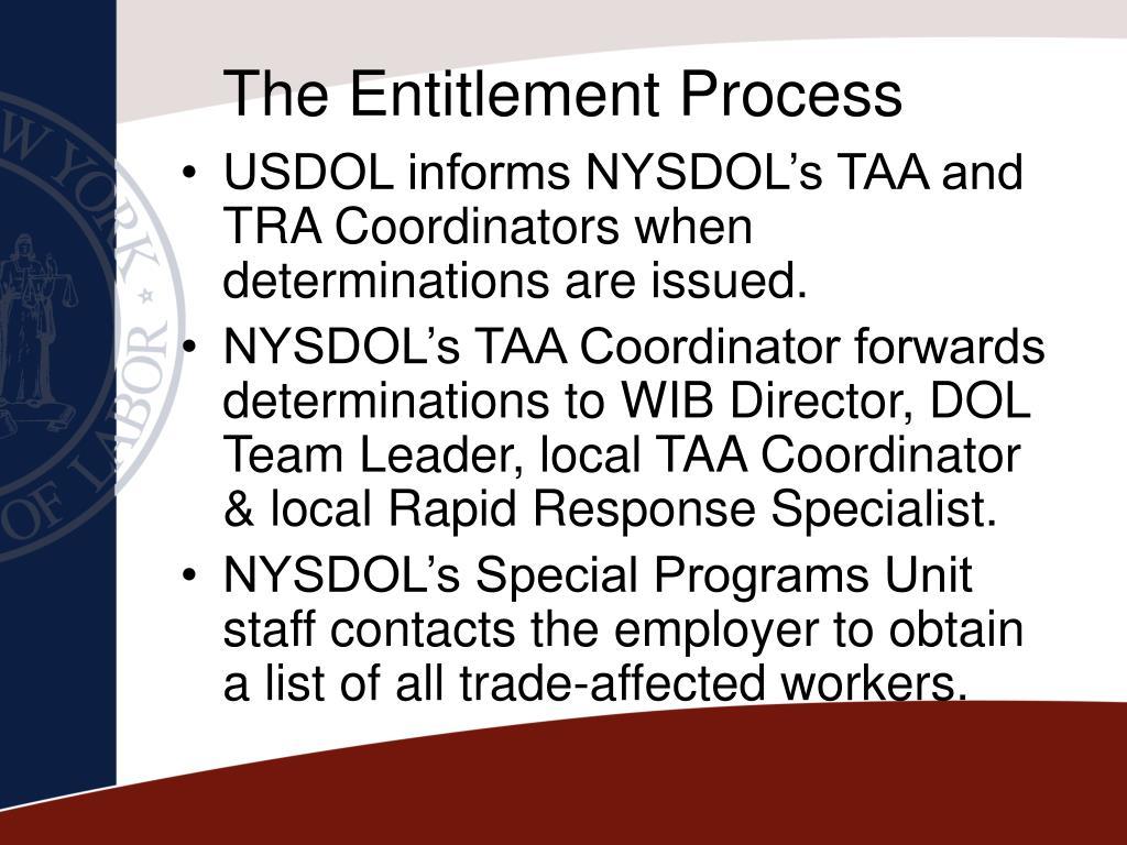 The Entitlement Process
