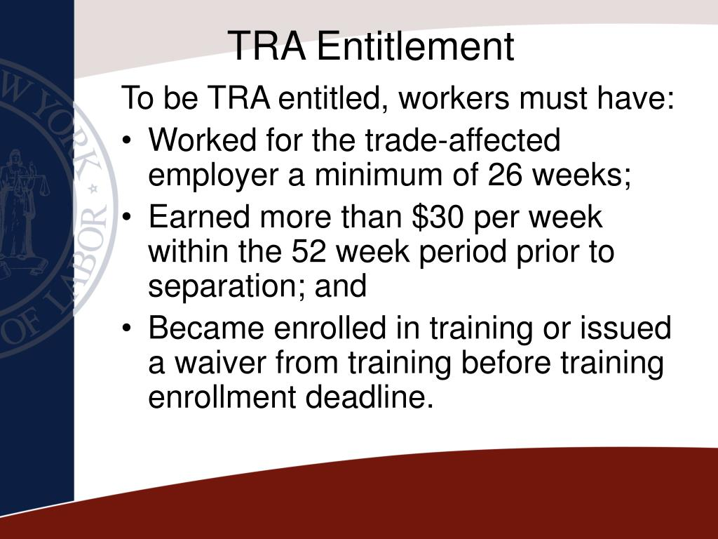 TRA Entitlement