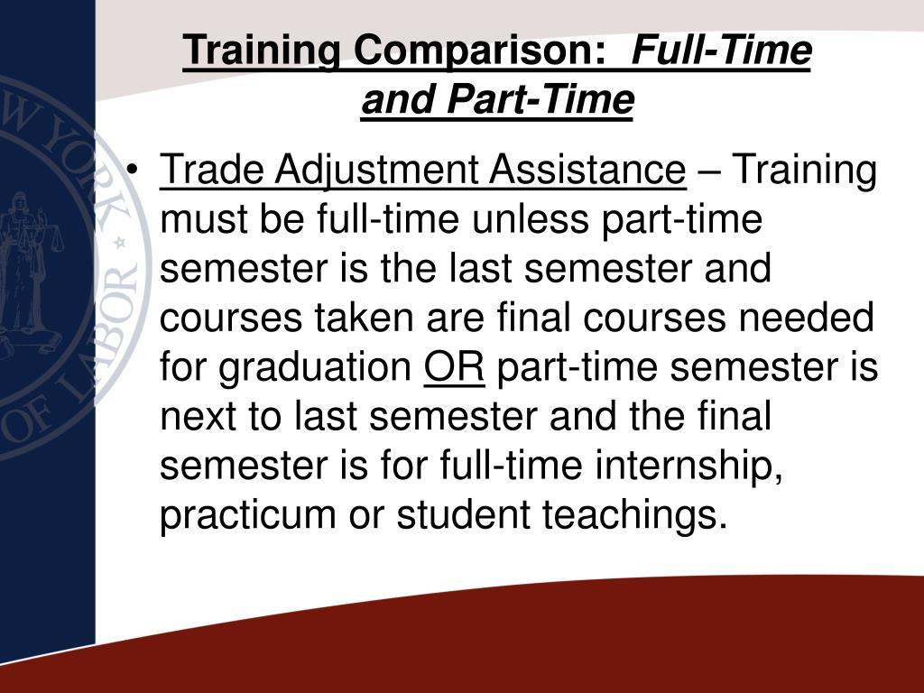 Training Comparison: