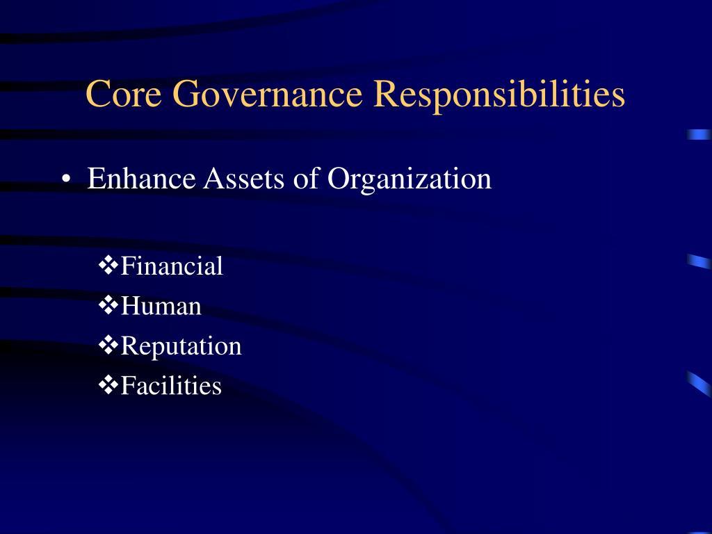 Core Governance Responsibilities