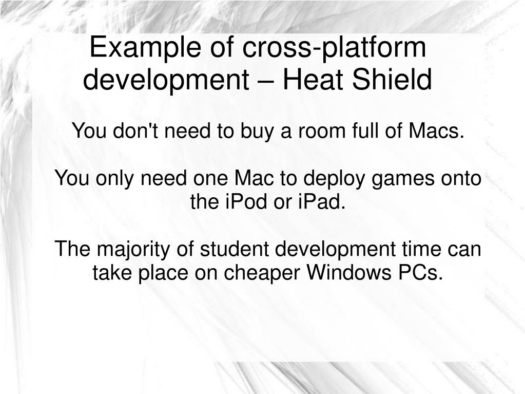 You don't need to buy a room full of Macs.
