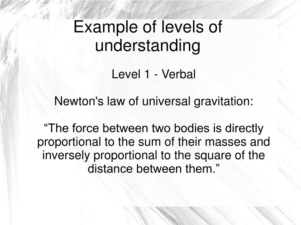 Level 1 - Verbal