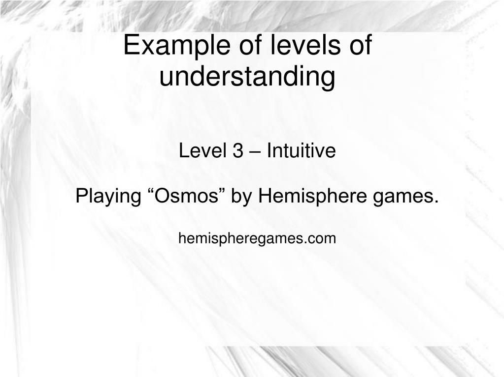 Level 3 – Intuitive