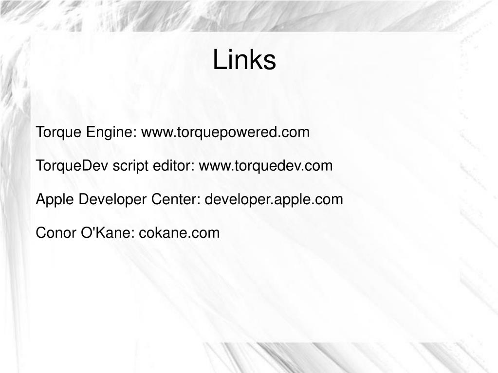 Torque Engine: www.torquepowered.com