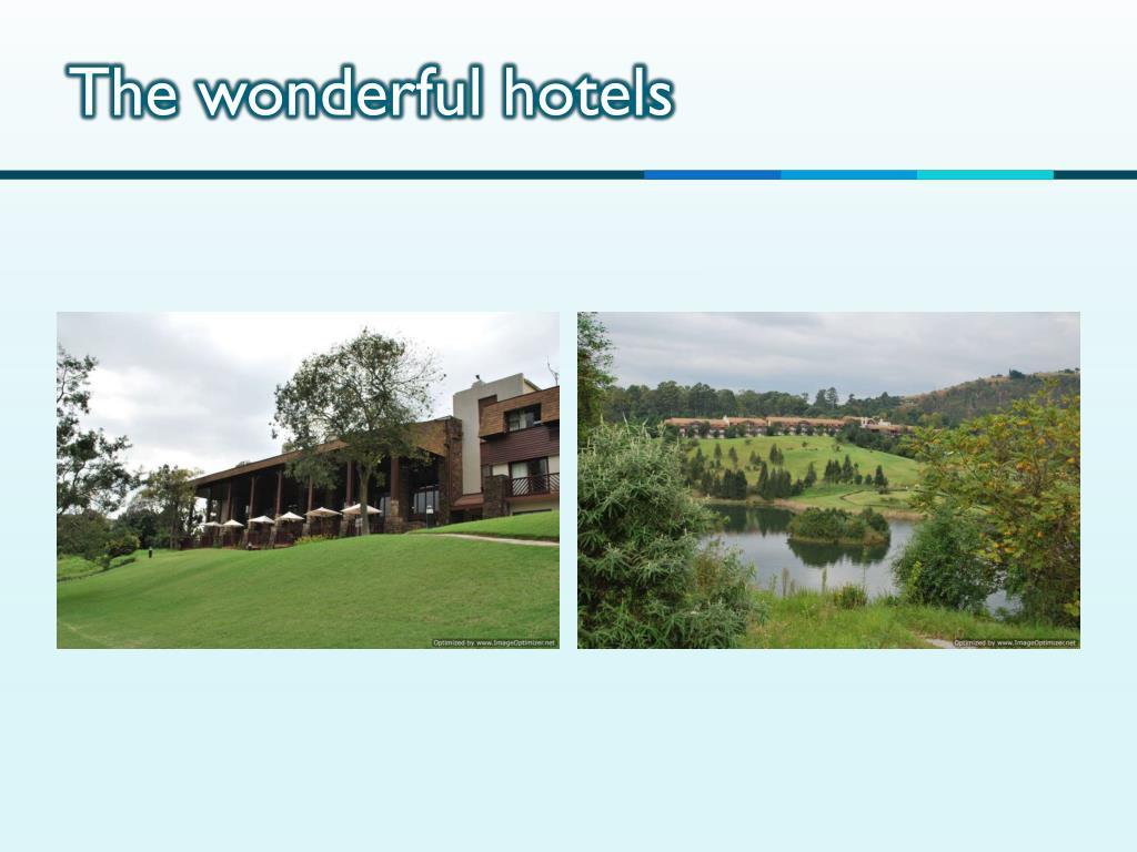 The wonderful hotels