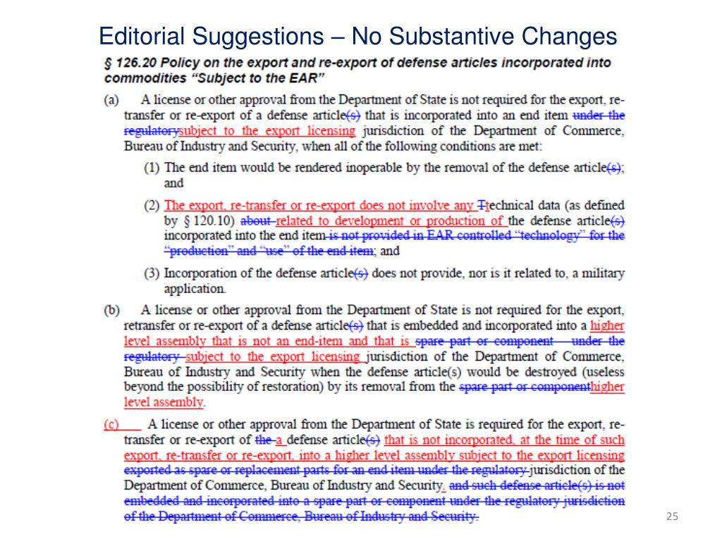 Editorial Suggestions – No Substantive Changes