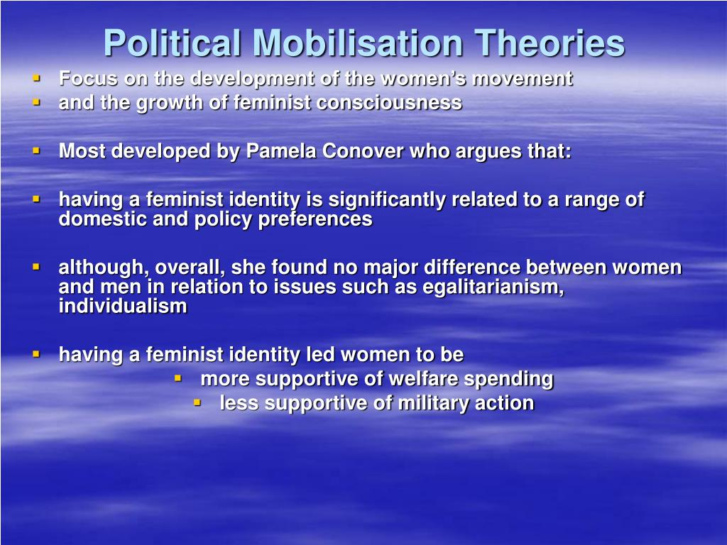 Political Mobilisation Theories