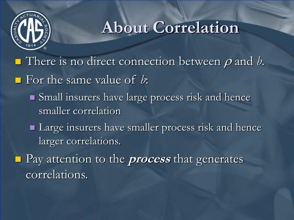 About Correlation