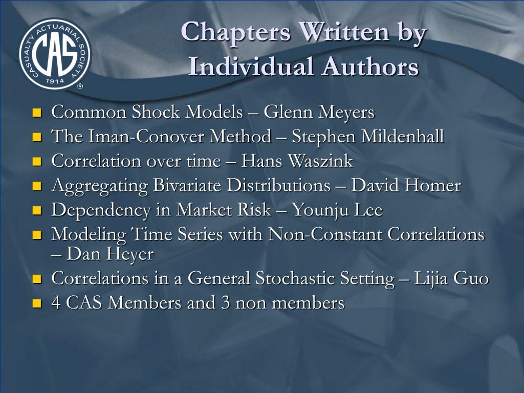 Chapters Written by