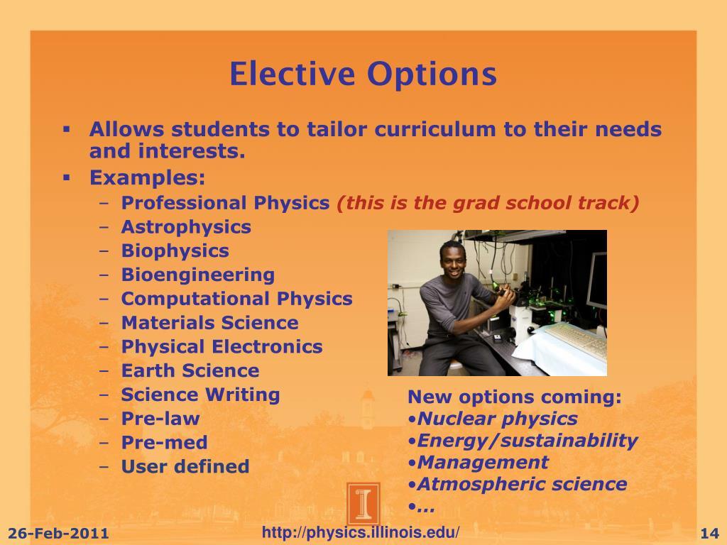 Elective Options