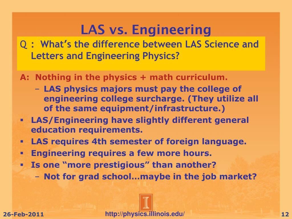 LAS vs. Engineering