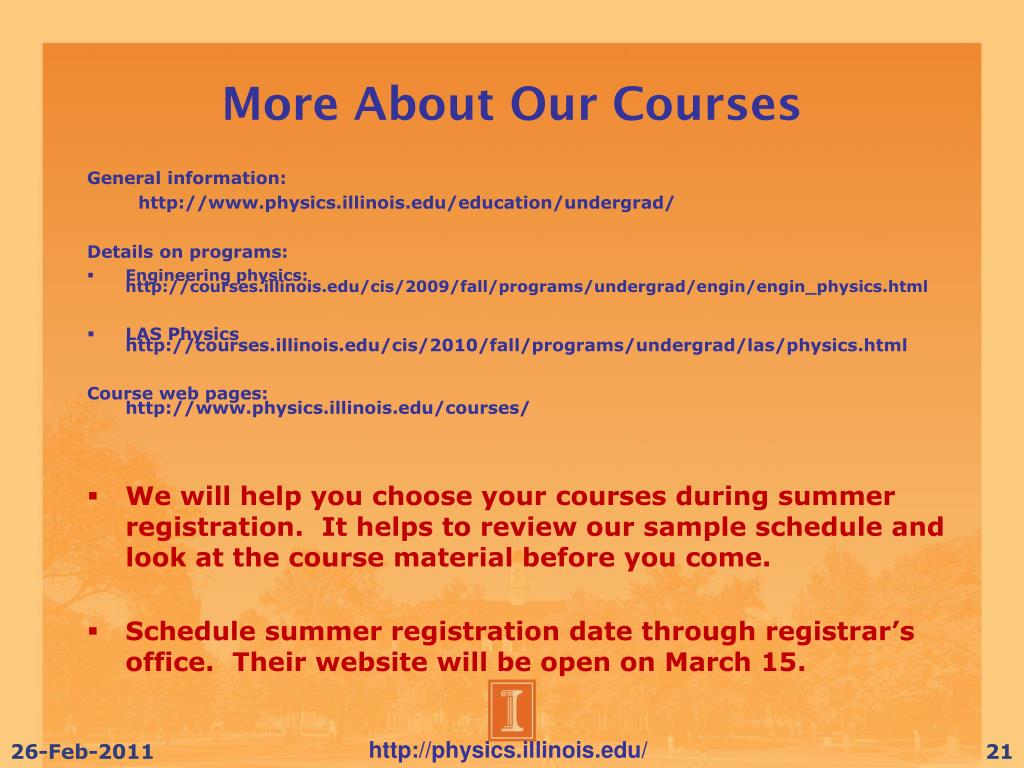 More About Our Courses