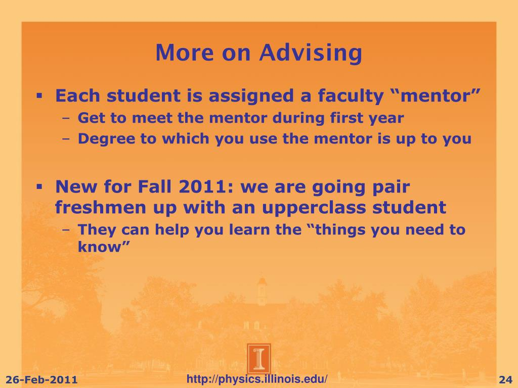 More on Advising