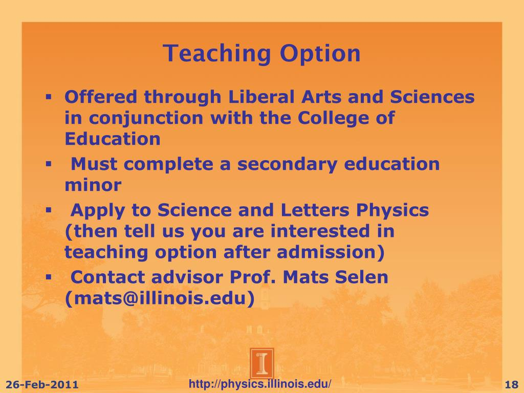 Teaching Option