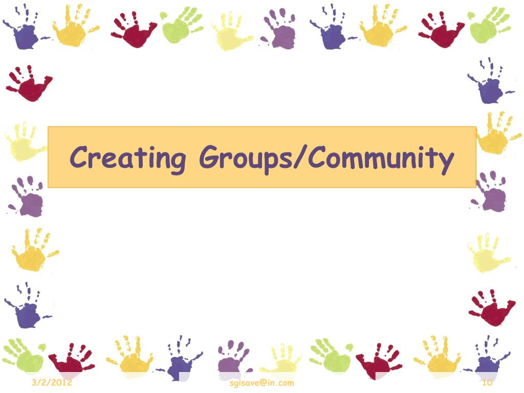 Creating Groups/Community