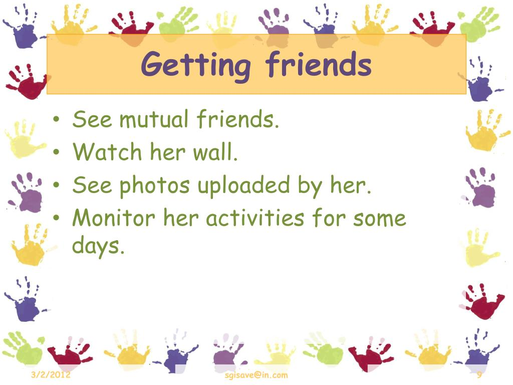 Getting friends