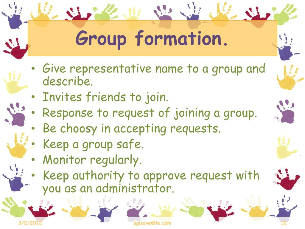 Group formation.