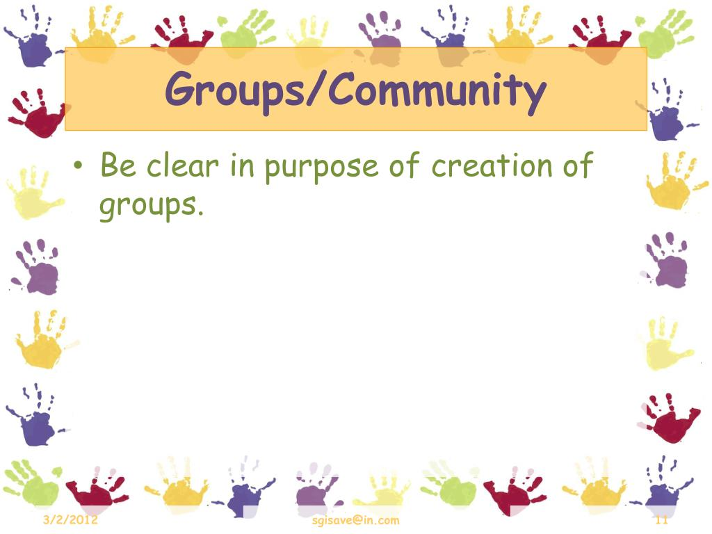 Groups/Community
