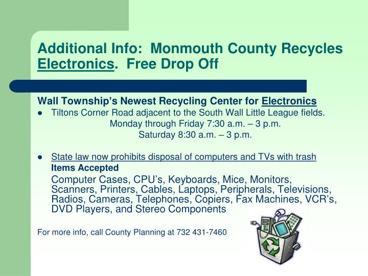 Additional Info:  Monmouth County Recycles