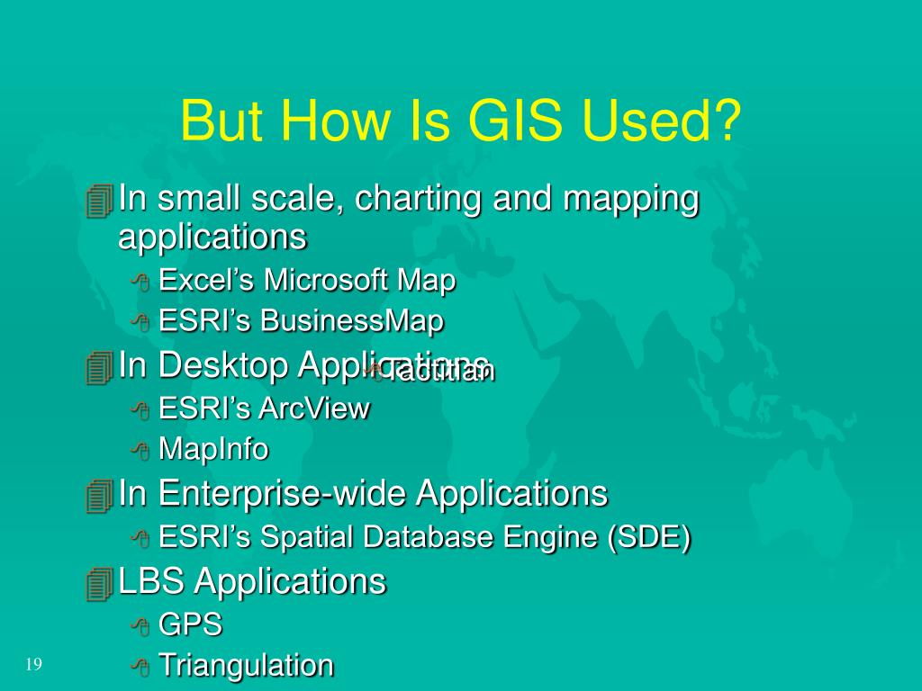 But How Is GIS Used?