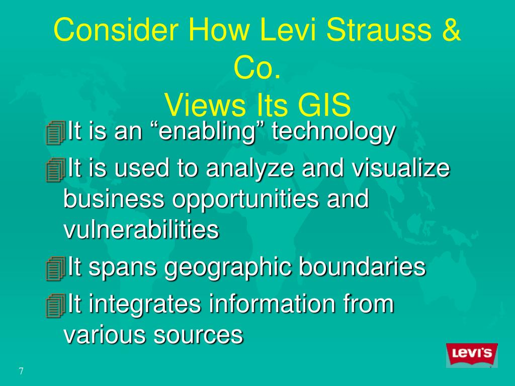 Consider How Levi Strauss & Co.
