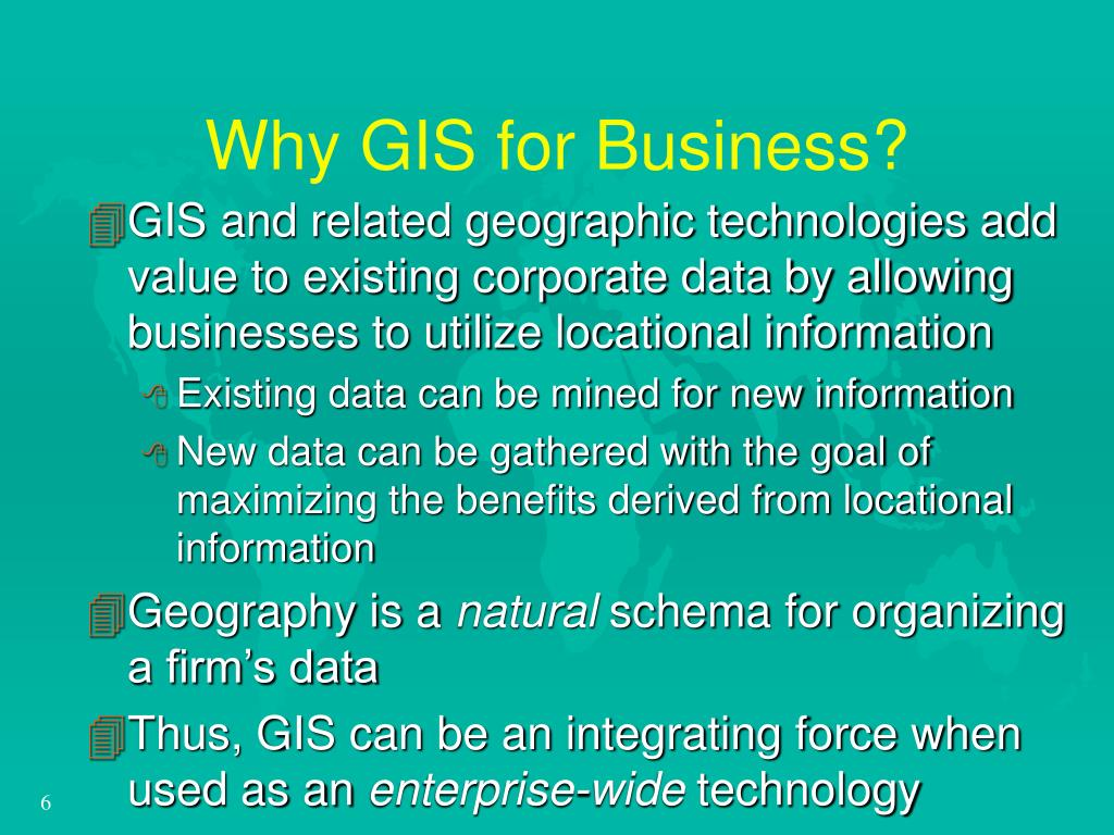 Why GIS for Business?