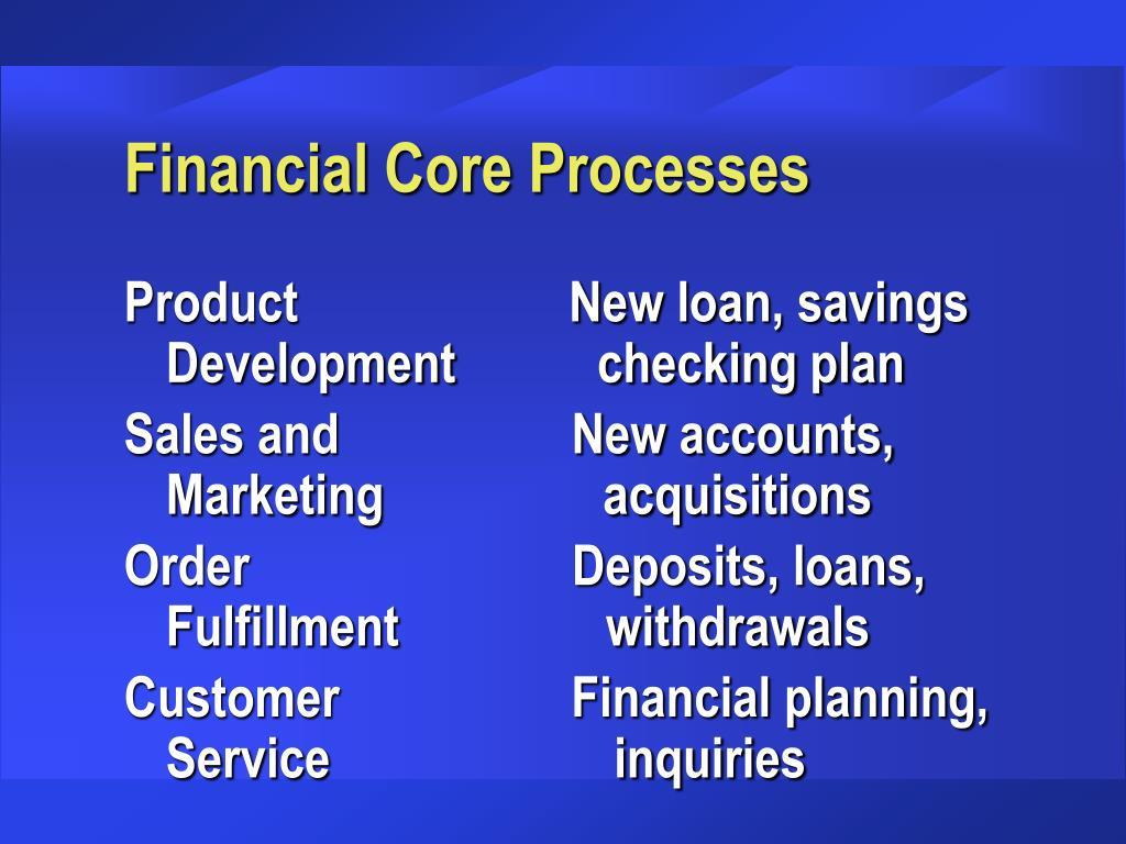 Financial Core Processes
