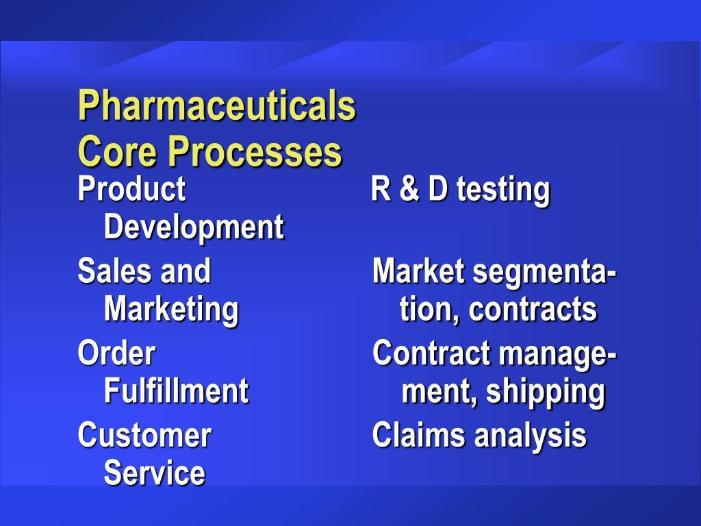 Pharmaceuticals      Core Processes