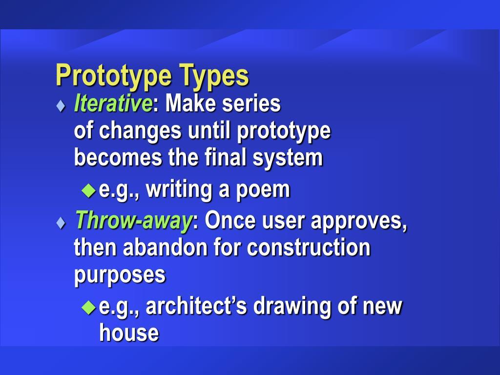 Prototype Types